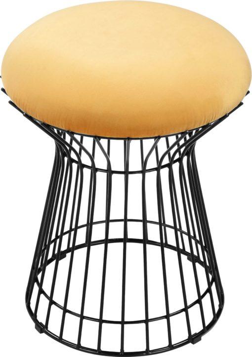 Złoty hoker na metalowej ramie, industrialny