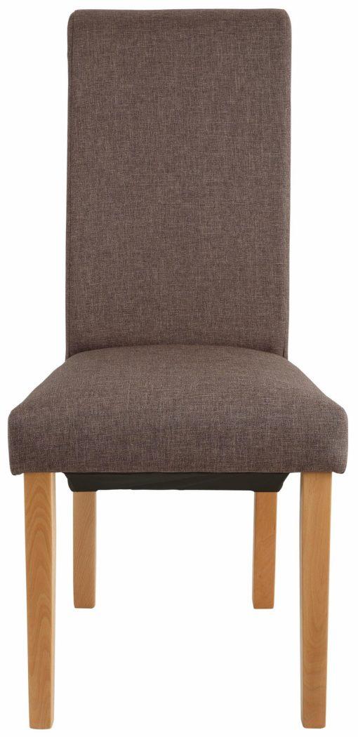 Brązowe krzesła tapicerowane - komplet 2 sztuki