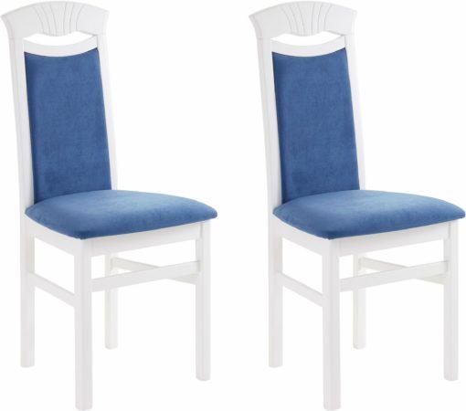 Piękne krzesła, w kontrastujących kolorach - 2 sztuki, niebieskie