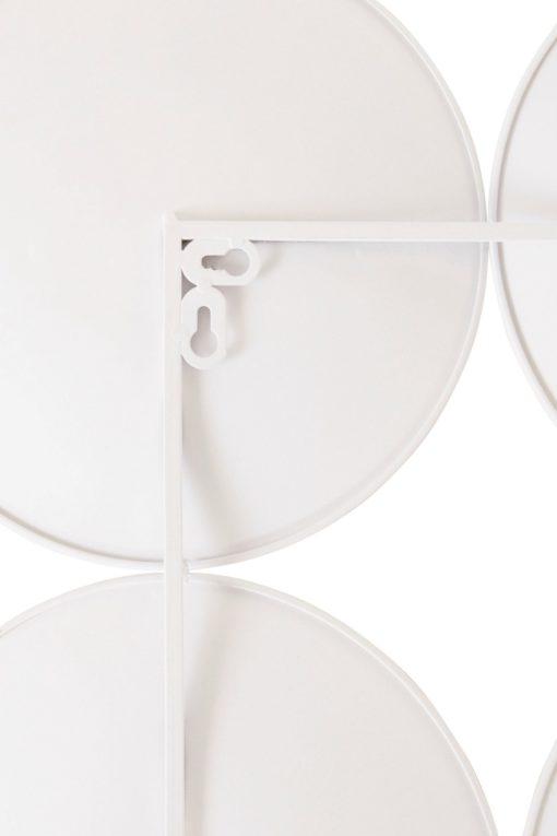 Biała dekoracja ścienna koła w nowoczesnym stylu