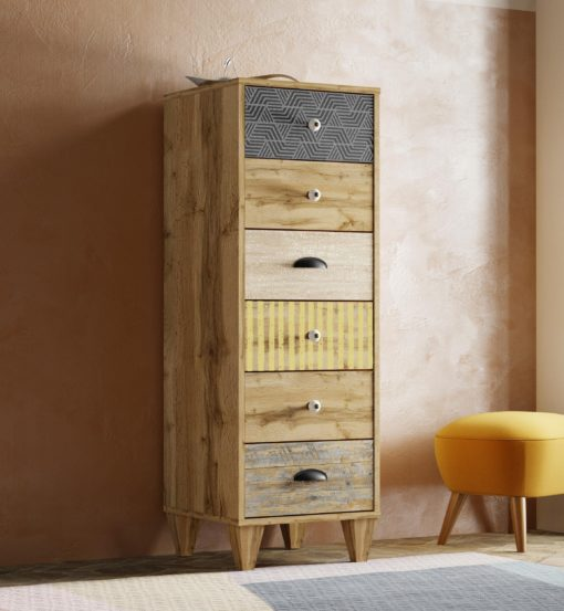 Komoda z szufladkami rustykalna, niezwykły design