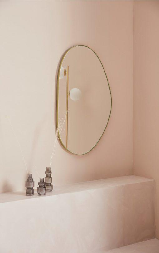 Niezwykłe lustro w złotej ramie 90x55 cm