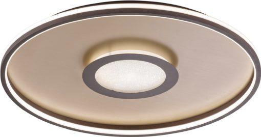 Luksusowa lampa sufitowa LED rdzawobrązowa, okragła