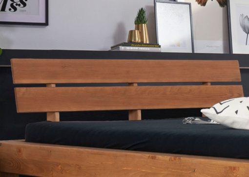 Rama łóżka z drewna świerkowego 140x200cm, rustykalna