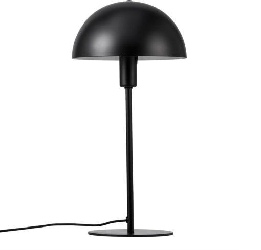 Stabilna metalowa lampa stołowa w kolorze czarnym