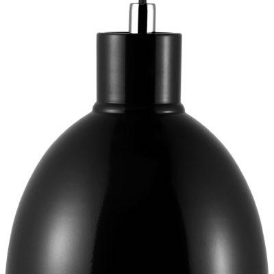 Metalowa lampa wiszaca, czarna