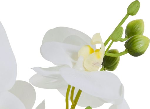 Dekoracyjna biała orchidea 60 cm, sztuczna