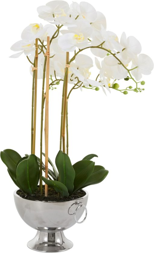 Dekoracyjna biała orchidea 70 cm, sztuczna