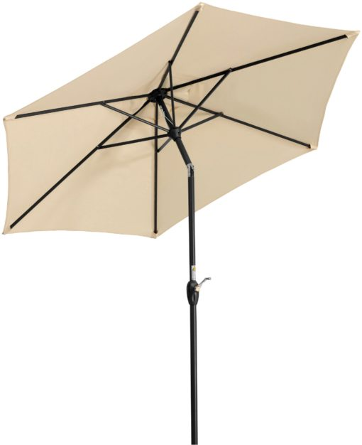 Parasol ogrodowy naturalny beż, średnica 220 cm