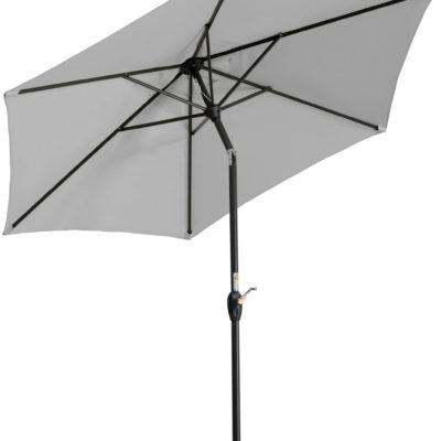 Parasol ogrodowy szary, średnica 220 cm