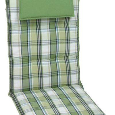 Poduszki na leżaki lub krzesła ogrodowe, zielona krata