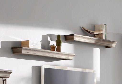 Stylowy zestaw półek na ścianę, piękny wzór, sosna