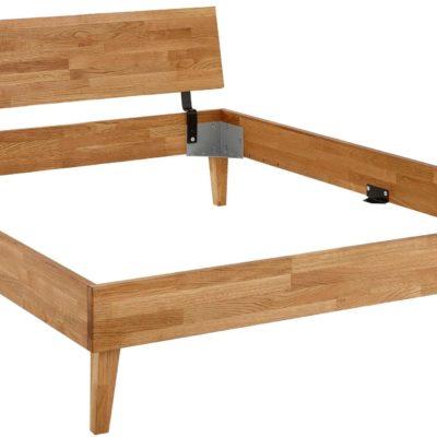 Łóżko z drewna dębowego klejonego 140x200 cm, nowoczesne