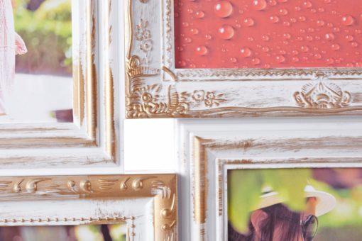 Piękna ramka/ fotogaleria w stylu barokowym, kolor miedziany