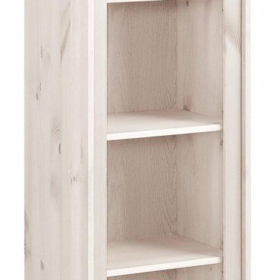Drewniany regał na książki wraz z półką, biały