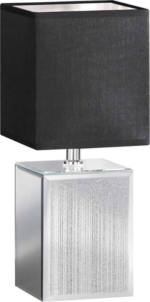Szlachetna lampa stołowa w odcieniach srebra