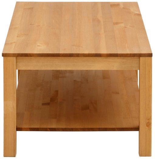 Minimalistyczny sosnowy stolik, naturalny 120 cm