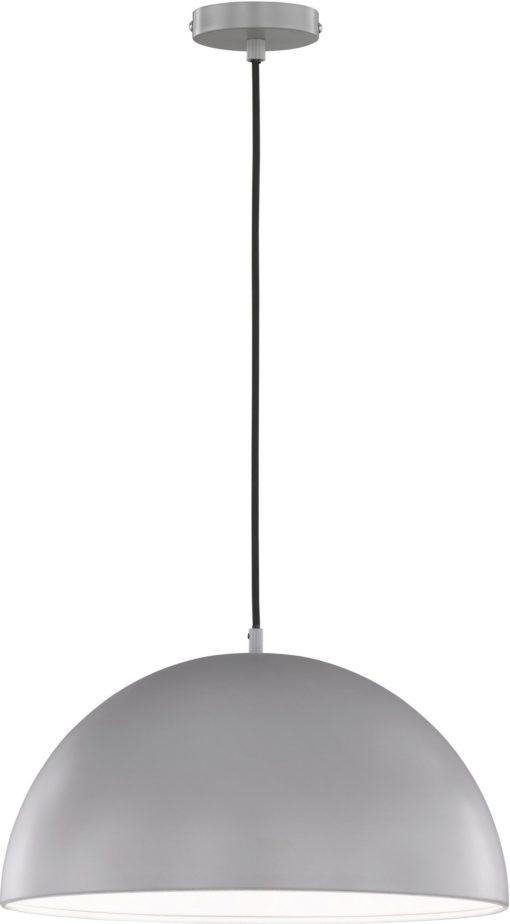 Jasnoszara metalowa lampa wisząca, styl skandynawski