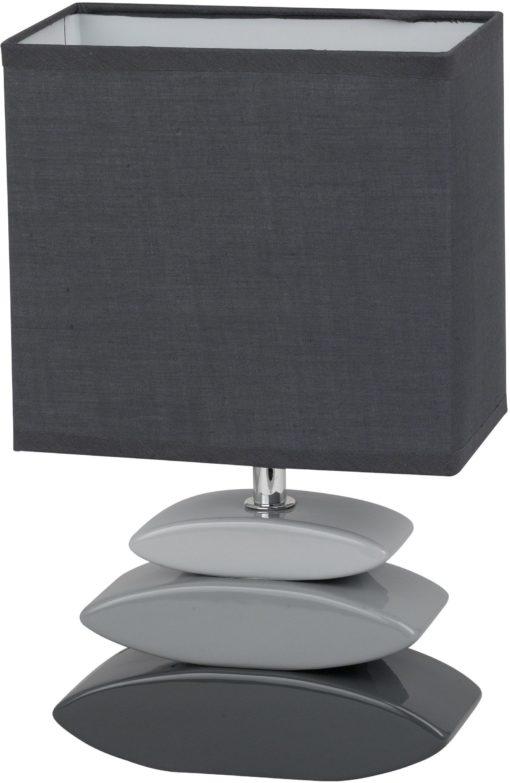Elegancka lampa stołowa w odcieniach szarości