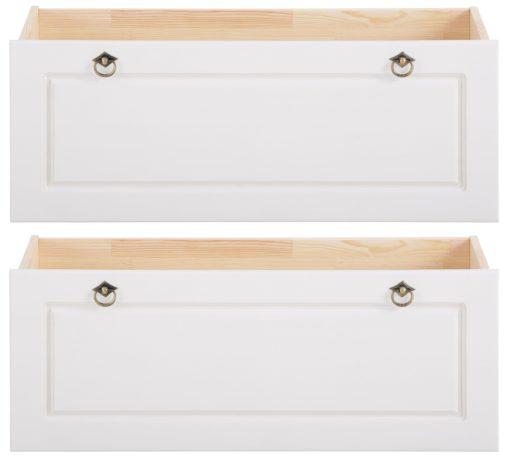 Komplet sosnowych szuflad pod łóżko - 2 sztuki