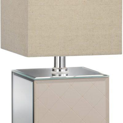 Szlachetna lampa stołowa w odcieniach złota