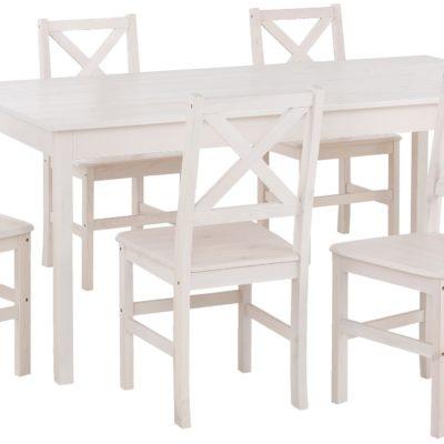 Sosnowy stół do jadalni 140x80 cm, biały