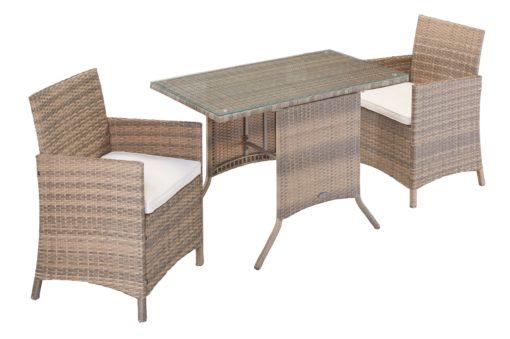 Zestaw mebli ogrodowych dwa fotele i stół