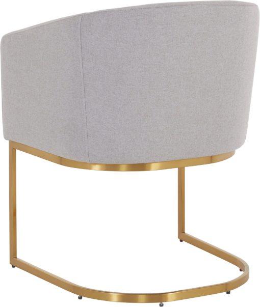Elegancki szary fotel na złotej płozie Guido Maria Kretschmer