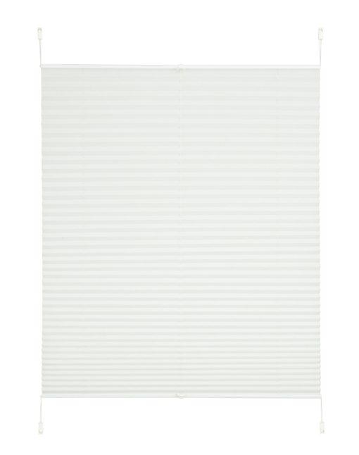 Kremowa, plisowana roleta, montaż bez wiercenia, 80x130 cm