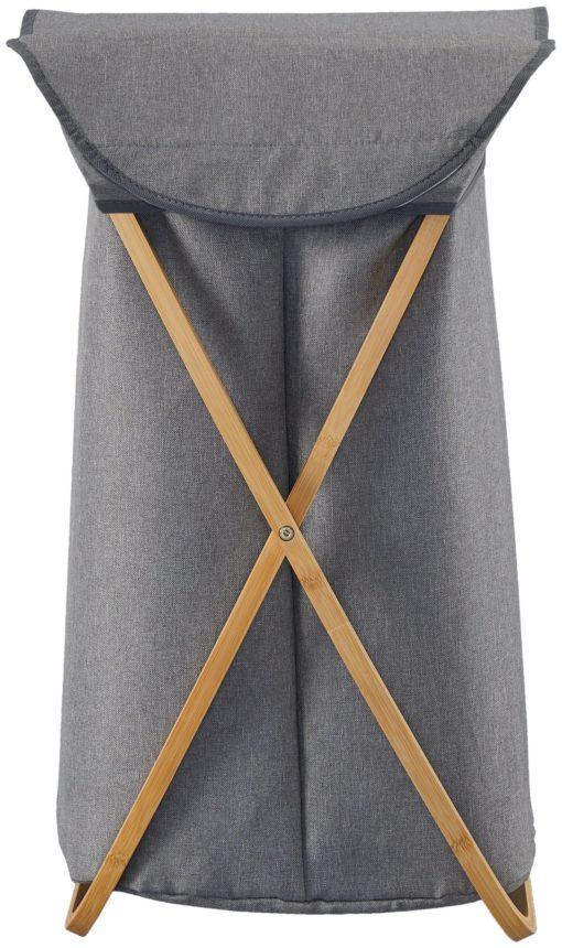 Kosz na bieliznę z bambusową ramą, szlachetny design