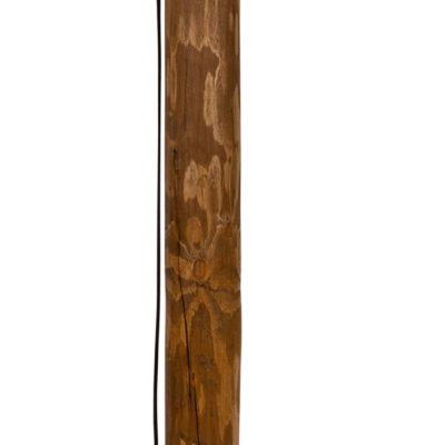 Lampa podłogowa z podstawa z litego drewna sosnowego