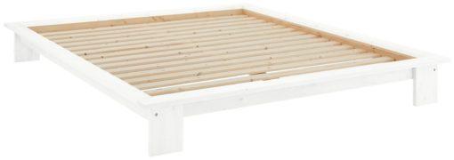 Białe łózko futon 140x200 cm z drewna sosnowego