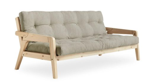 Materac futon do sofy Karup Grab, kolor naturalny lniany