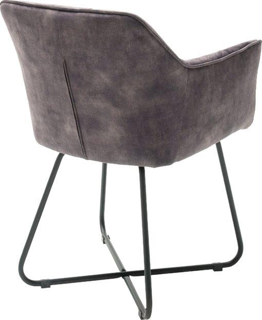 Atrakcyjne antracytowe krzesła/ fotele - 2 sztuki
