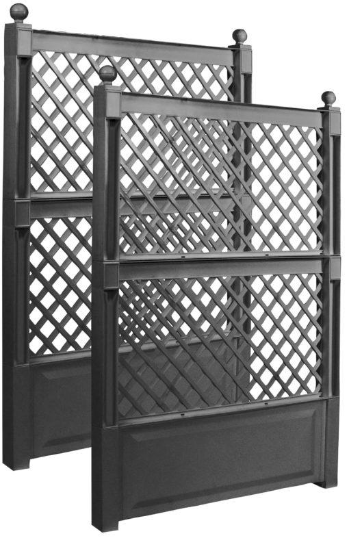Dwuczęściowy panel/ pergola z tworzywa 100x6x140 cm
