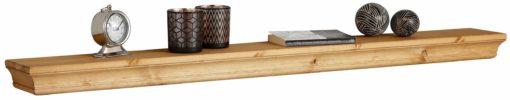 Stylowa półka z drewna sosnowego, 136 cm, olejowana