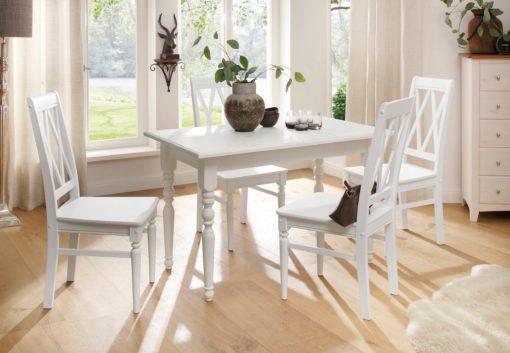 Piękny, sosnowy stół z toczonymi nogami, 120 cm