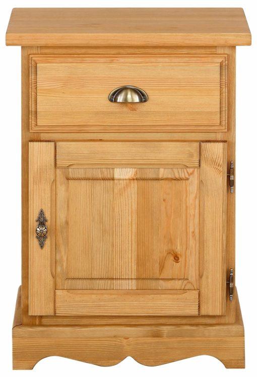 Piękna sosnowa szafka nocna w rustykalnym stylu