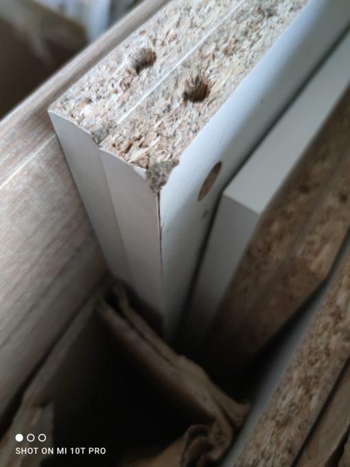 Szafka na buty biało-dębowa z półkami
