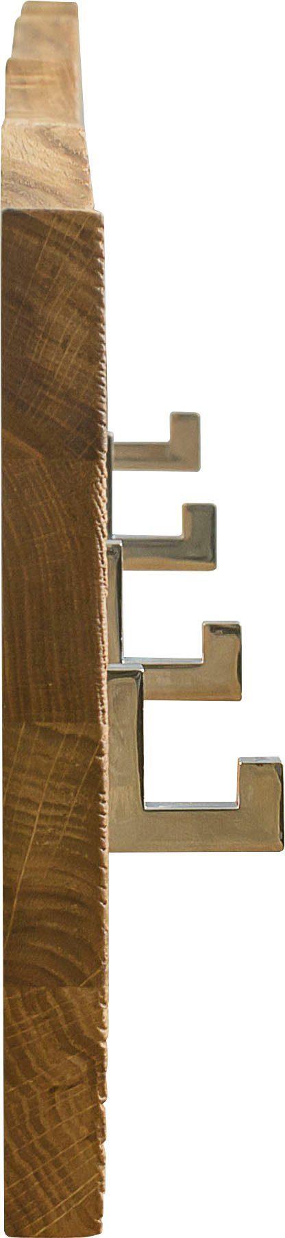 Minimalistyczny wieszak z drewna dębowego, skandynawski