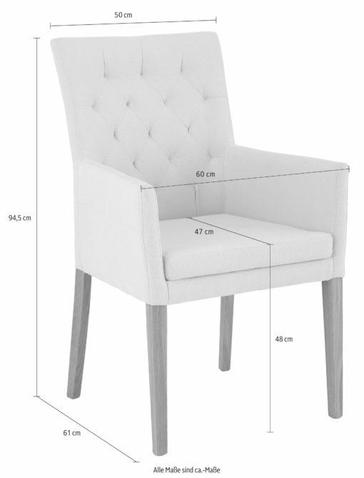 Stylowy fotel tapicerowany tkaniną w kolorze beżowym