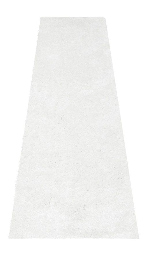 Biały dywan Shaggy 67x230 cm, super miękki