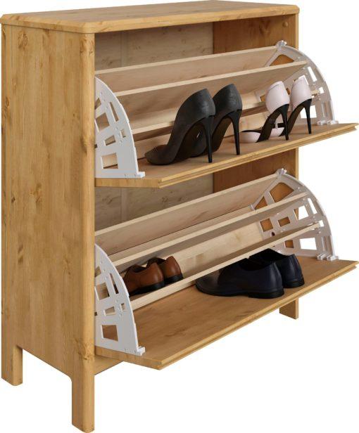 Sosnowa szafka na buty, minimalistyczny styl