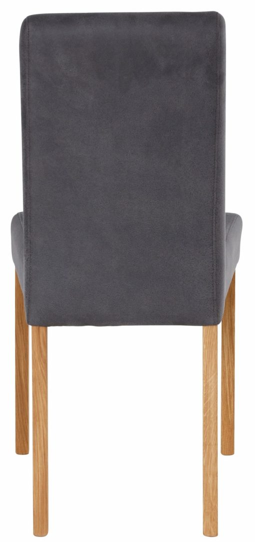 Szare krzesła o wyglądzie skóry