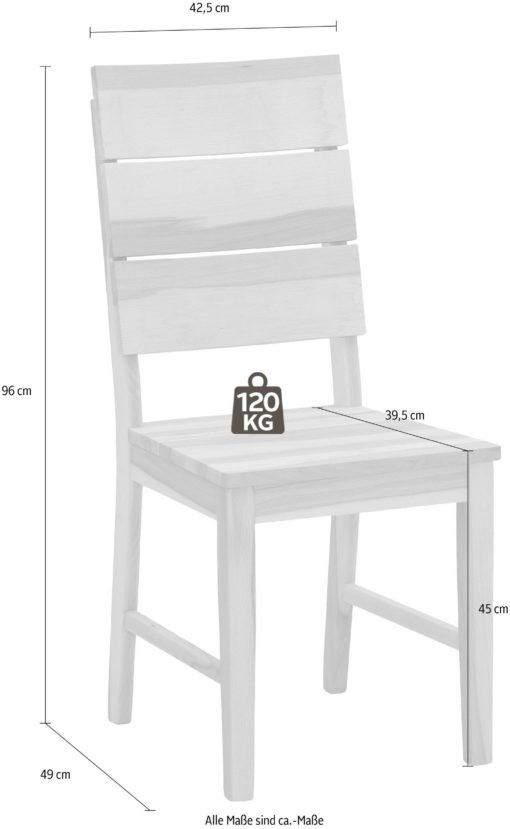 Krzesła z drewna bukowego 4 sztuki, rustykalne