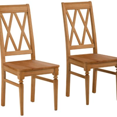Sosnowe krzesła o ciekawym kształcie, olejowane - 2 sztuki