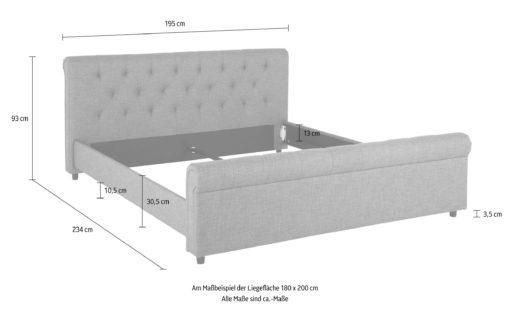Atrakcyjne tapicerowane łóżko ze stylowym wezgłowiem, czarne