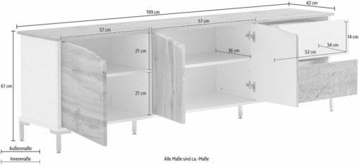 Innowacyjna duża komoda 199 cm lub szafka pod telewizor