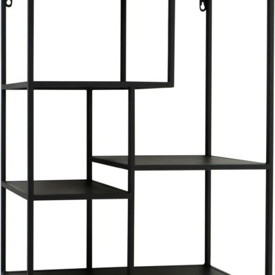 Czarna metalowa półka w skandynawskim designie