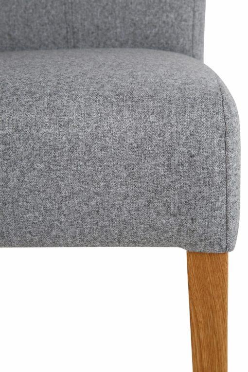 Klasyczne szare krzesła Queen na dębowej ramie - 4 sztuki